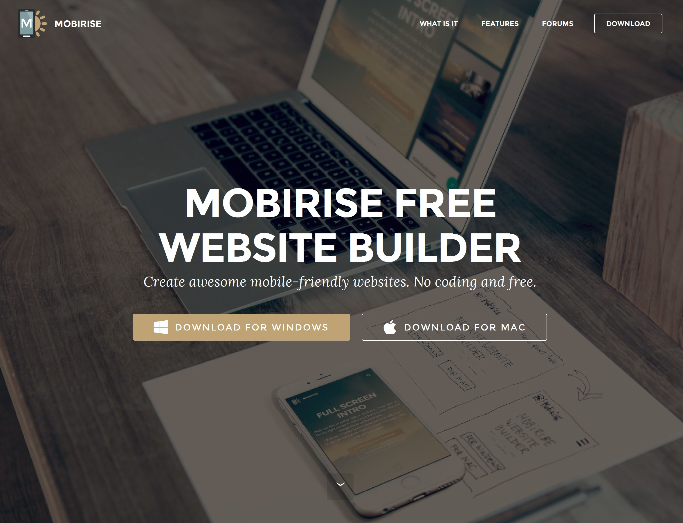 Simple Responsive Website Builder