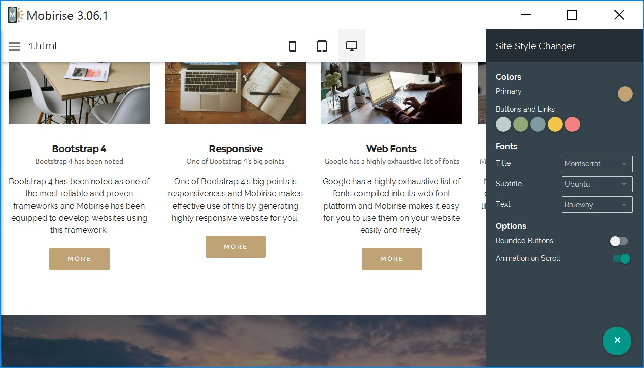 WYSIWYG Responsive Web Site Builder Software