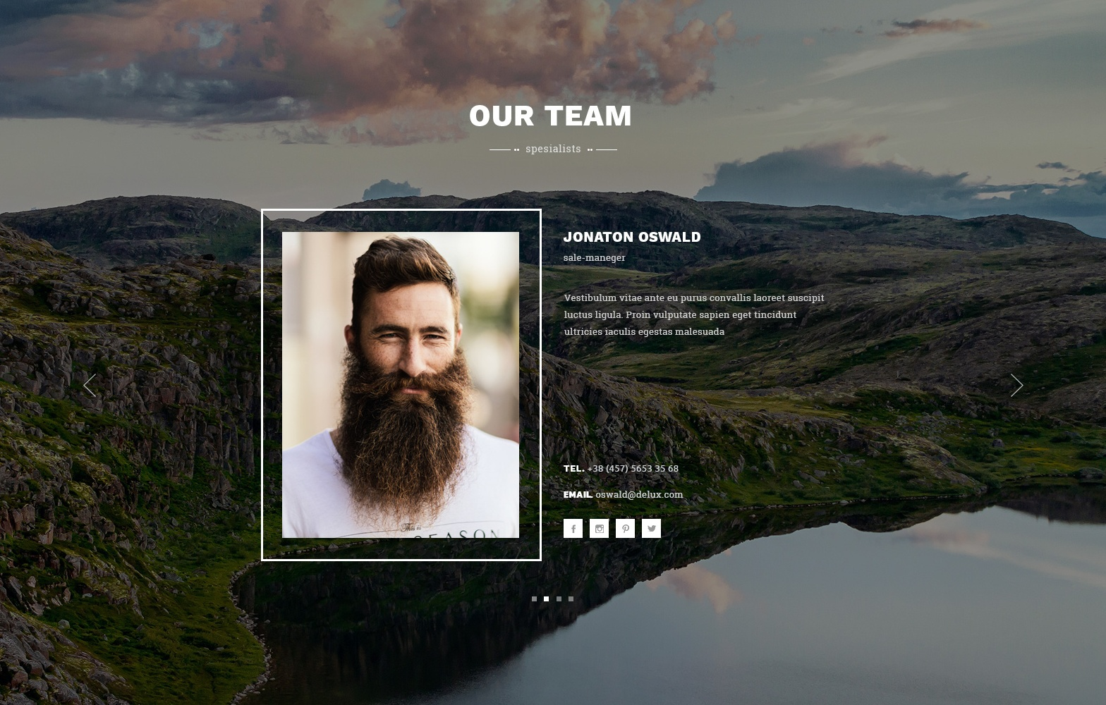 CSS3 Bootstrap One Page Theme