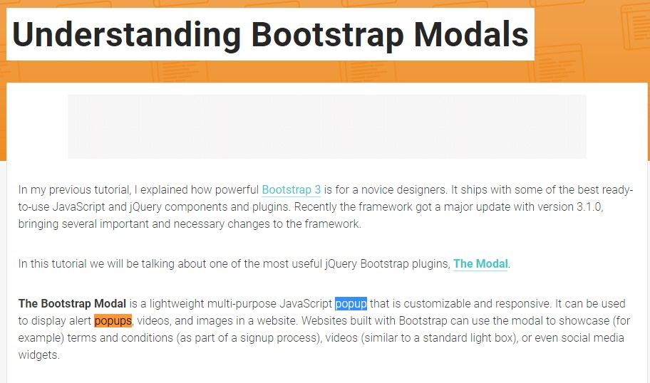 One more  practical  post about Bootstrap Modal Popup