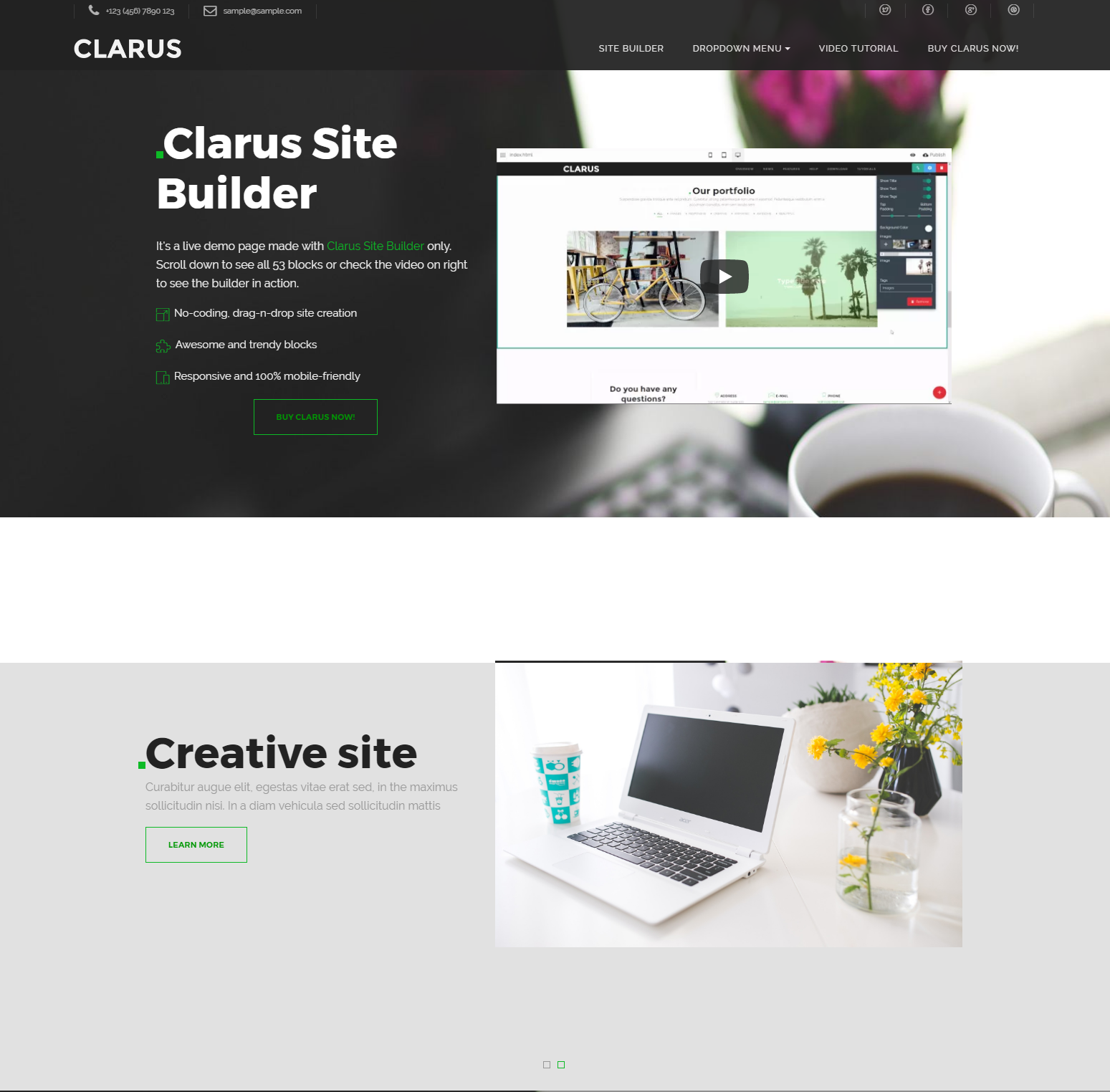 HTML5 Bootstrap Clarus Themes