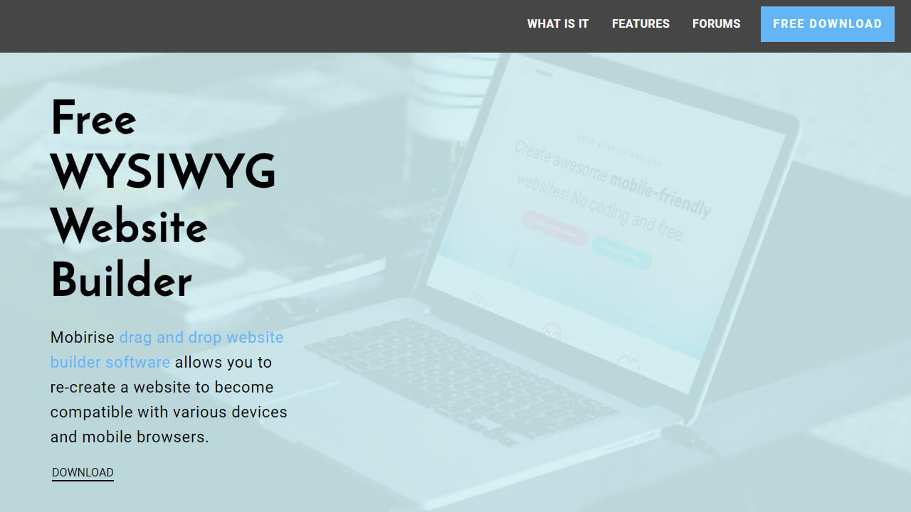 Free WYSIWYG Website Builder