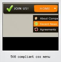 508 Compliant Css Menu