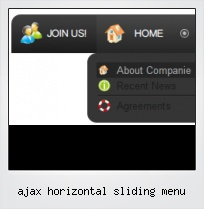 Ajax Horizontal Sliding Menu