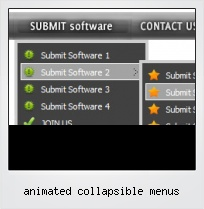 Animated Collapsible Menus