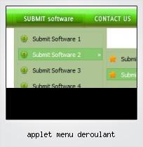 Applet Menu Deroulant
