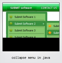 Collapse Menu In Java