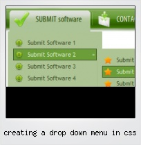 Creating A Drop Down Menu In Css