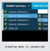 Creating Menu In Javascript