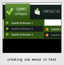 Creating Sub Menus In Html