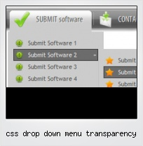 Css Drop Down Menu Transparency