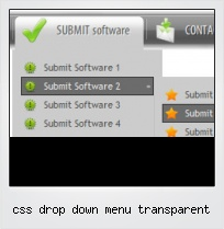 Css Drop Down Menu Transparent