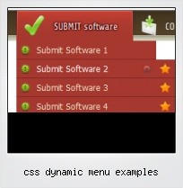 Css Dynamic Menu Examples