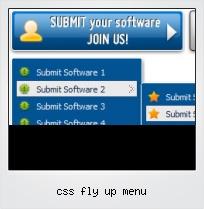Css Fly Up Menu