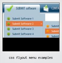 Css Flyout Menu Examples