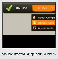 Css Horizontal Drop Down Submenu