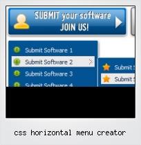 Css Horizontal Menu Creator
