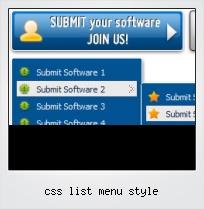 Css List Menu Style