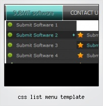 Css List Menu Template