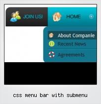 Css Menu Bar With Submenu