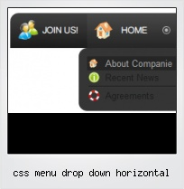 Css Menu Drop Down Horizontal