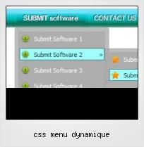Css Menu Dynamique
