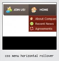 Css Menu Horizontal Rollover