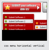 Css Menu Horizontal Vertical