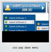 Css Pop Down Menu