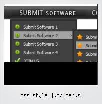 Css Style Jump Menus