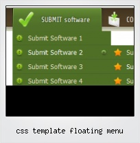 Css Template Floating Menu