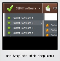 Css Template With Drop Menu