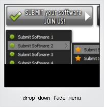 Drop Down Fade Menu