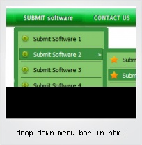 Drop Down Menu Bar In Html