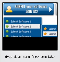 Drop Down Menu Free Template