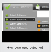 Drop Down Menu Using Xml