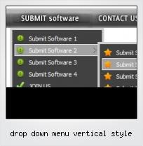 Drop Down Menu Vertical Style