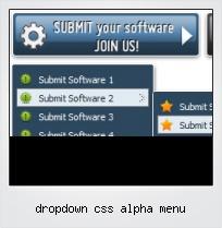 Dropdown Css Alpha Menu