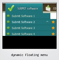 Dynamic Floating Menu