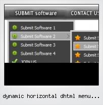 Dynamic Horizontal Dhtml Menu Script