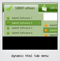 Dynamic Html Tab Menu