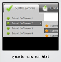 Dynamic Menu Bar Html