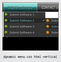 Dynamic Menu Css Html Vertical