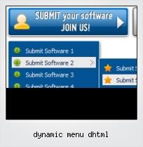 Dynamic Menu Dhtml
