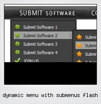 Dynamic Menu With Submenus Flash
