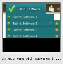 Dynamic Menu With Submenus In Flash