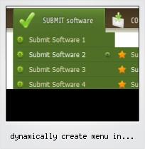 Dynamically Create Menu In Javascript