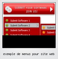 Exemple De Menus Pour Site Web