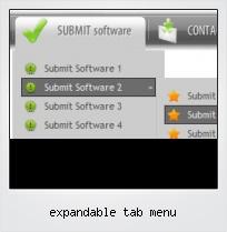 Expandable Tab Menu