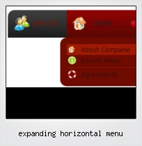 Expanding Horizontal Menu